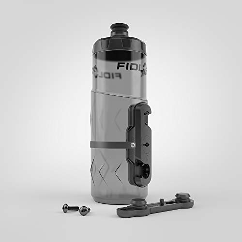 Fidlock Bottle Twist magnetischer Flaschenhalter, Set mit Halterung für Fahrrad, schwarz