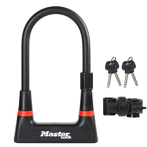 MASTER LOCK Bügelschloss [Schlüsselschloss] [mit Halterung] [Zertifiziertes Fahrrad Schloss] 8279EURDPRO - Ideal für Fahrräder*