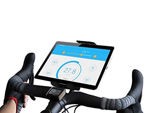 Tablet halterung Heimtrainer fahrrad kompatibel mit iPad Gültig für alle Lenkertypen fahrradhalterung tablet Fitnessfahrrad Fitnessbike Fahrradtrainer heimfahrrad