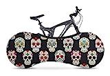 VELOSOCK Indoor Fahrradschutzhülle Fahrradabdeckung zur Lagerung - Skulls - Die Beste Lösung, um Böden und Wände SCHMUTZFREI zu halten - Passt für 99% Aller Erwachsenen-Fahrräder