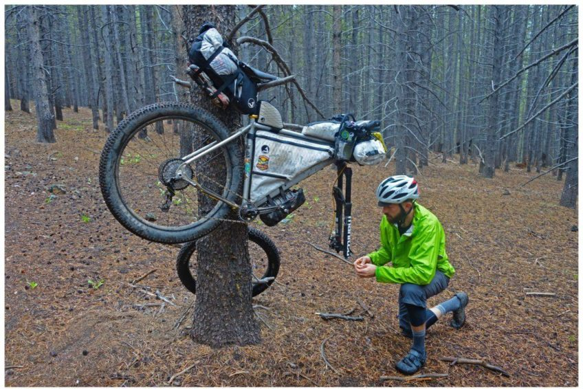Fahrradwerkzeug im Einsatz