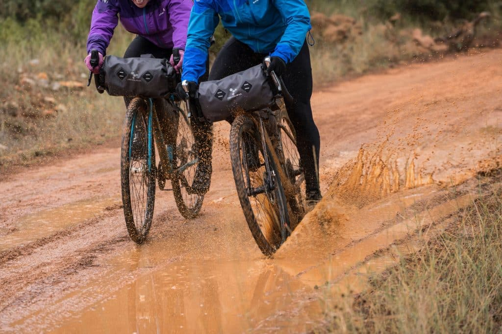 Bikepacking bei Regen