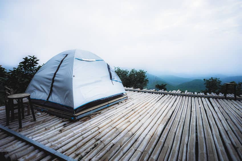 legal wildcampen auf Trekkingplatz
