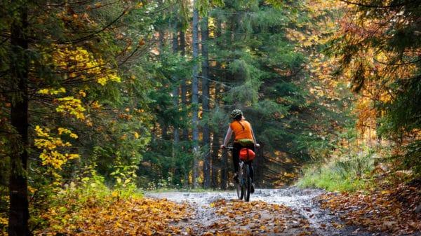 Radfahren im Herbst