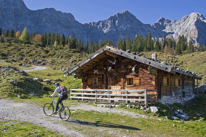 Berghütte Übernachtung mit Fahrrad